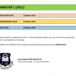 TRIMESTER 1 (2021) – COVID-19 Update for Students